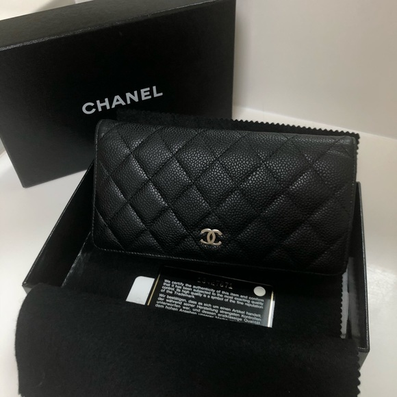 1db345916b74 CHANEL Handbags - CHANEL QUILTED CAVIAR LEATHER L-YEN WALLET